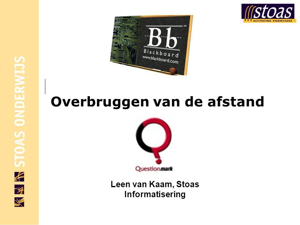 Overbruggen van de afstand Leen van Kaam, Stoas Informatisering