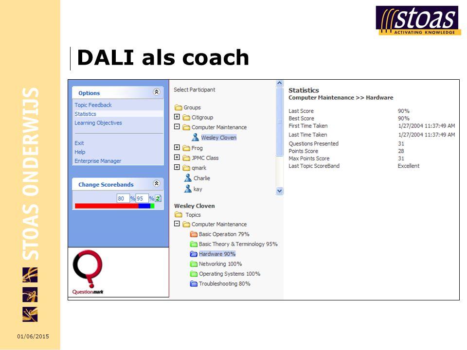01/06/2015 DALI als coach
