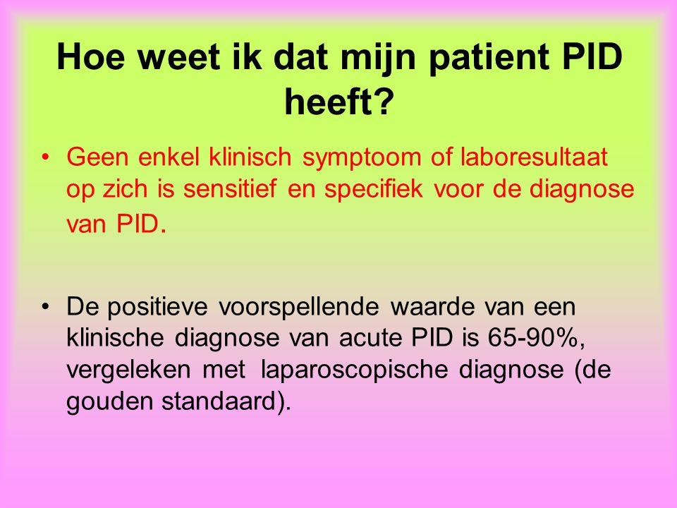 Hoe weet ik dat mijn patient PID heeft.