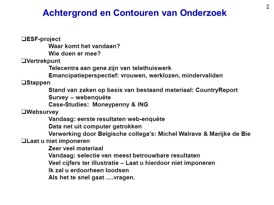 2 Achtergrond en Contouren van Onderzoek  ESF-project Waar komt het vandaan.