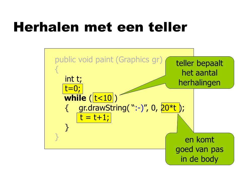 Publieksvraag nSchrijf een methode deelbaar, die antwoordt of x deelbaar is door d private static boolean deelbaar (int x, int d) { } x%d == 0return ; waarheidswaarde als resultaat