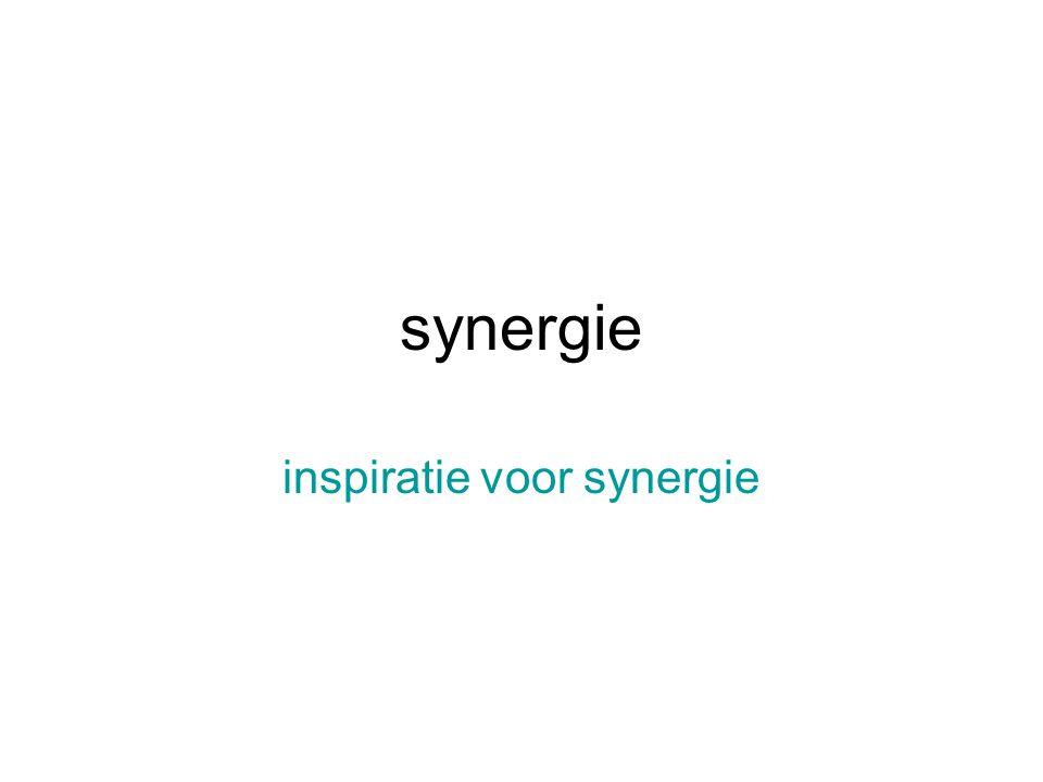 synergie inspiratie voor synergie