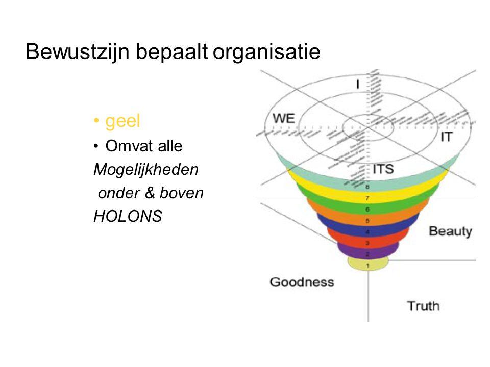 Bewustzijn bepaalt organisatie geel Omvat alle Mogelijkheden onder & boven HOLONS