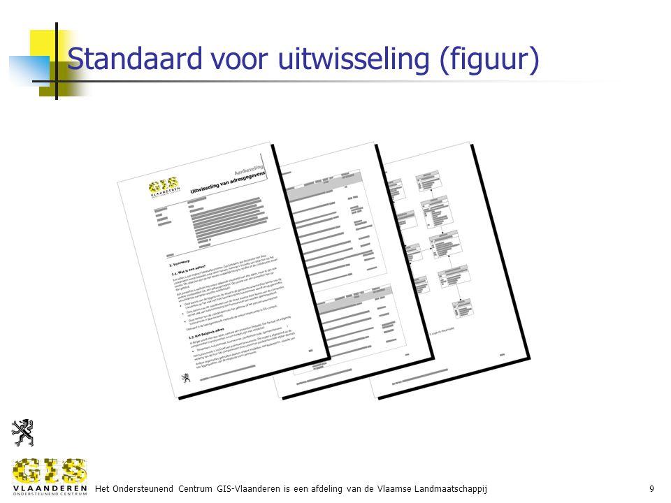 Het Ondersteunend Centrum GIS-Vlaanderen is een afdeling van de Vlaamse Landmaatschappij9 Standaard voor uitwisseling (figuur)