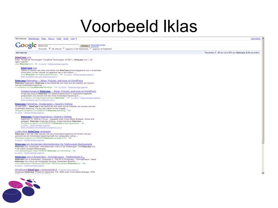 Voorbeeld Iklas