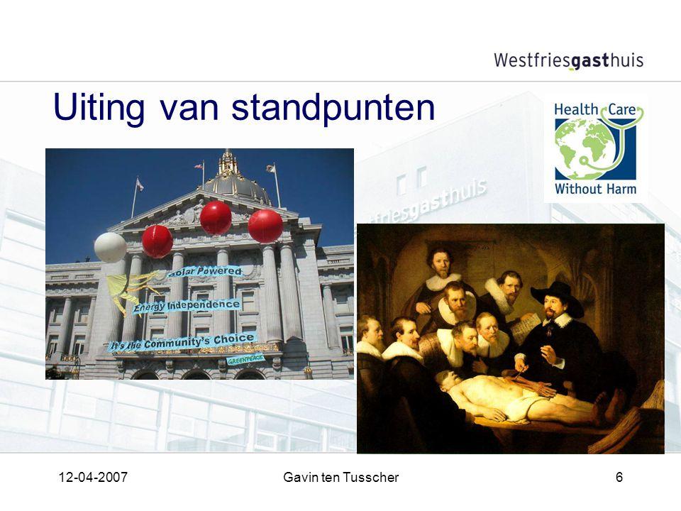 12-04-2007Gavin ten Tusscher6 Uiting van standpunten