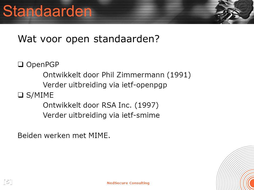 NedSecure Consulting Standaarden Wat voor open standaarden.