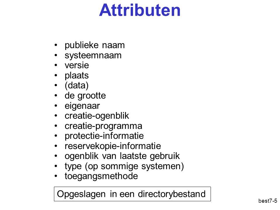 best7-36 Organisatie van gegevensbestanden Contigue allocatie Gelinkte allocatie Geïndexeerde allocatie