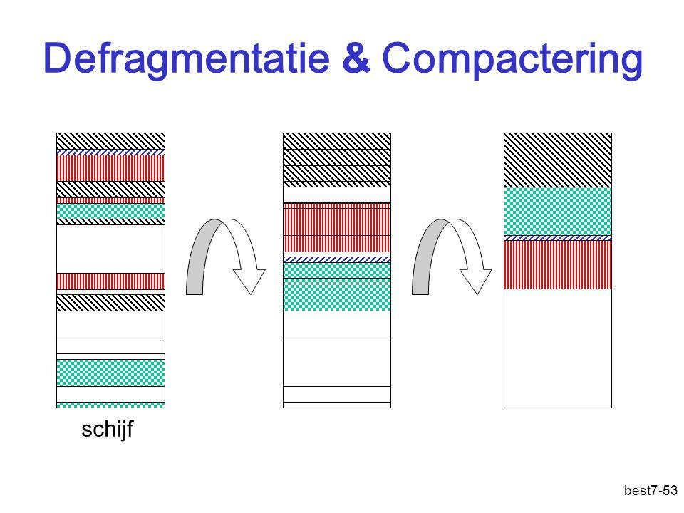 best7-53 Defragmentatie & Compactering schijf