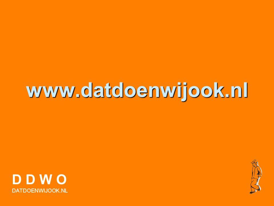 Vragen? D D W O DATDOENWIJOOK.NL