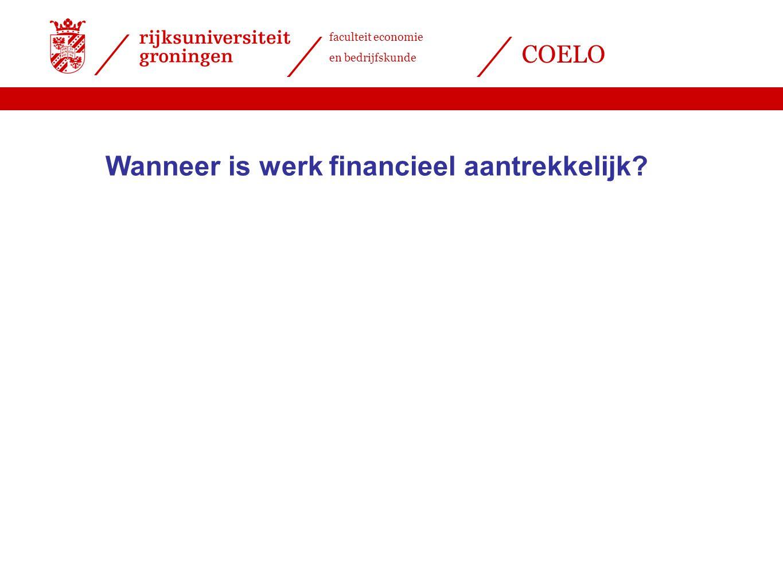 faculteit economie en bedrijfskunde COELO Wanneer is werk financieel aantrekkelijk?