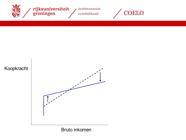 faculteit economie en bedrijfskunde COELO Bruto inkomen Koopkracht