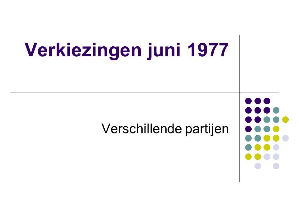 Verkiezingen juni 1977 Verschillende partijen
