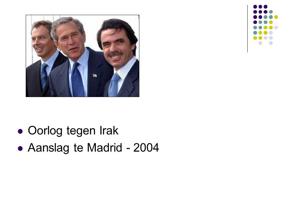 Oorlog tegen Irak Aanslag te Madrid - 2004