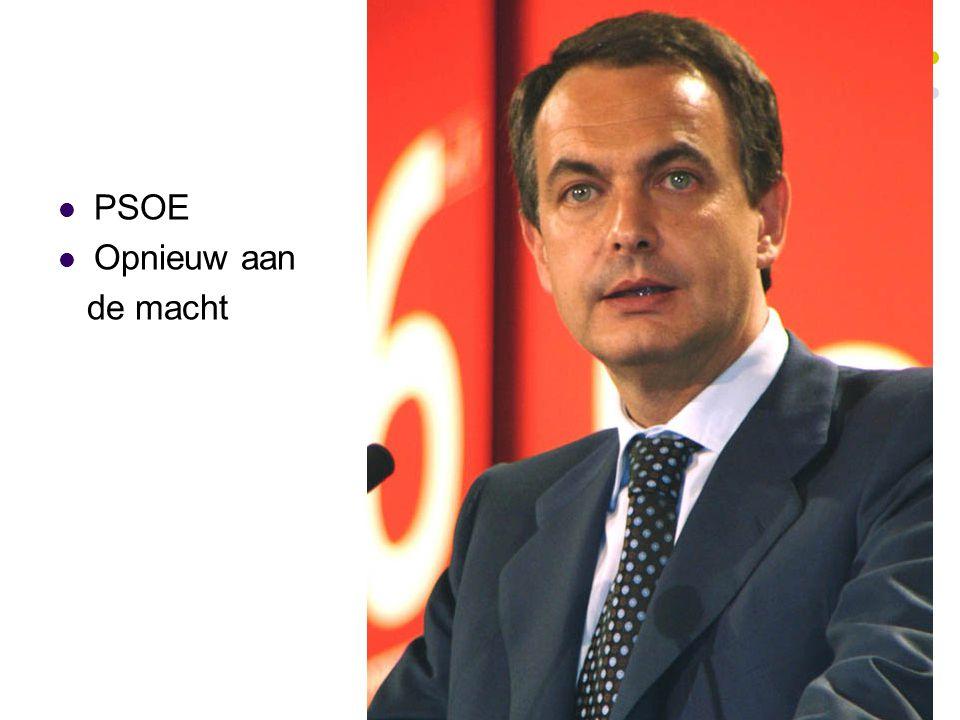 PSOE Opnieuw aan de macht