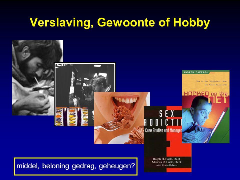Verslaving, Gewoonte of Hobby middel, beloning gedrag, geheugen?