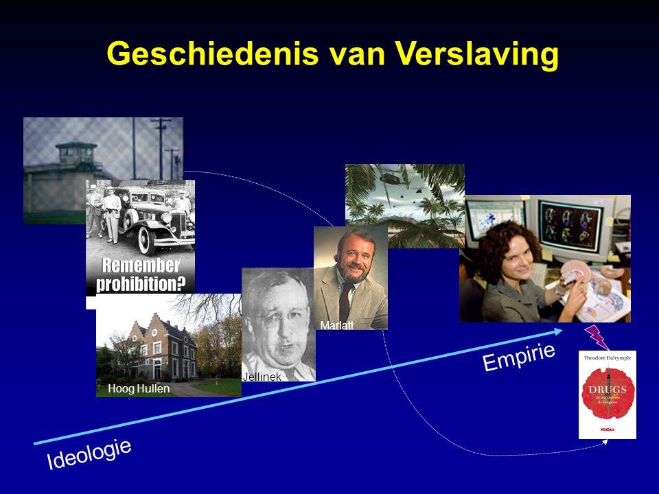Geschiedenis van Verslaving Hoog Hullen Jellinek Marlatt Ideologie Empirie