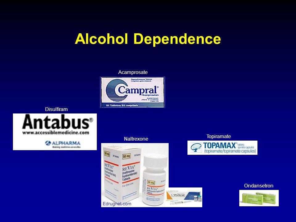 Alcohol Dependence Disulfiram Acamprosate Naltrexone Topiramate Ondansetron