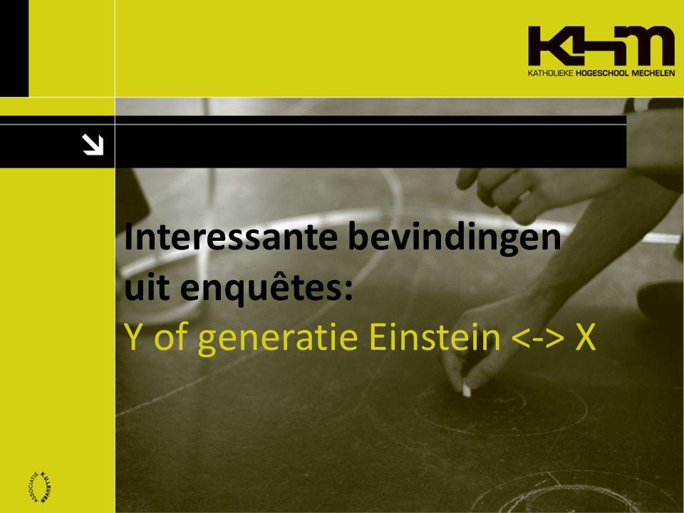Interessante bevindingen uit enquêtes: Y of generatie Einstein X