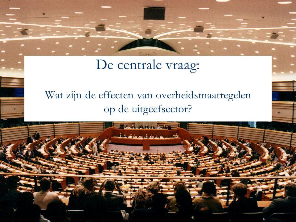De centrale vraag: Wat zijn de effecten van overheidsmaatregelen op de uitgeefsector?