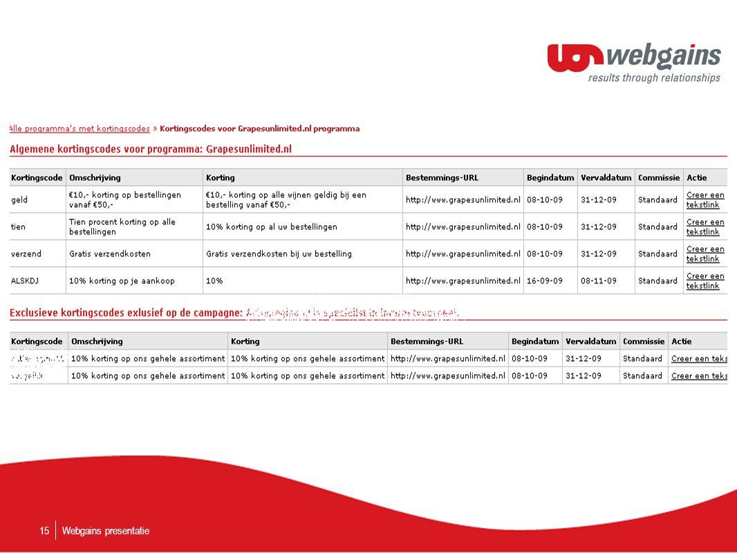 Webgains presentatie15