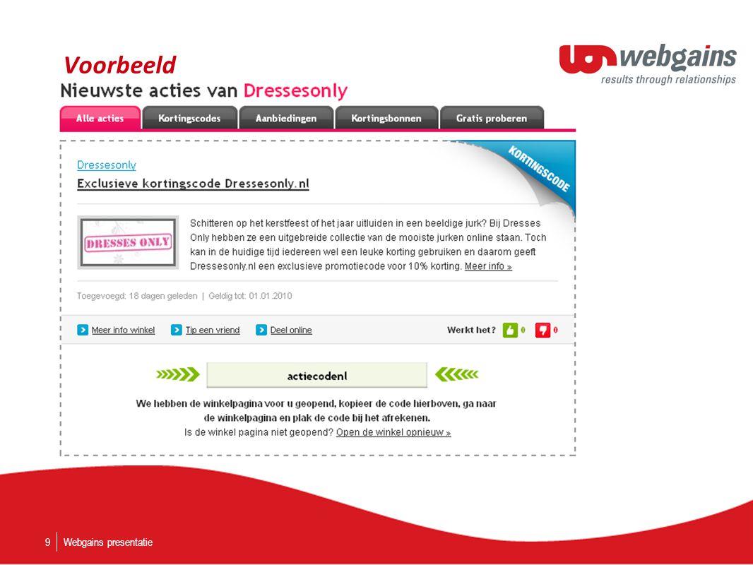 Voorbeeld Webgains presentatie9