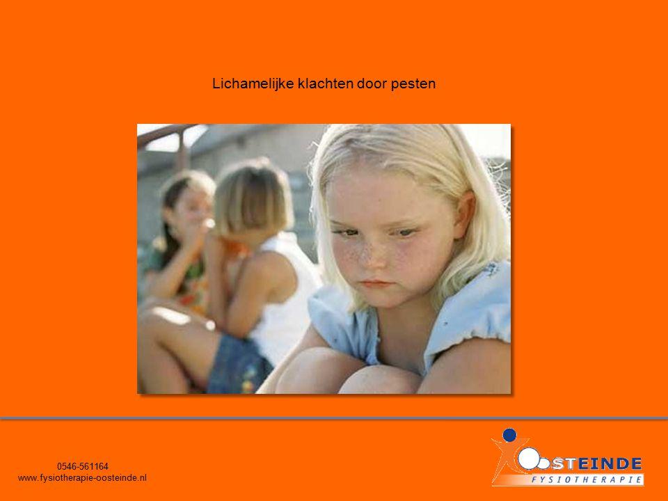 0546-561164 www.fysiotherapie-oosteinde.nl Lichamelijke klachten door pesten