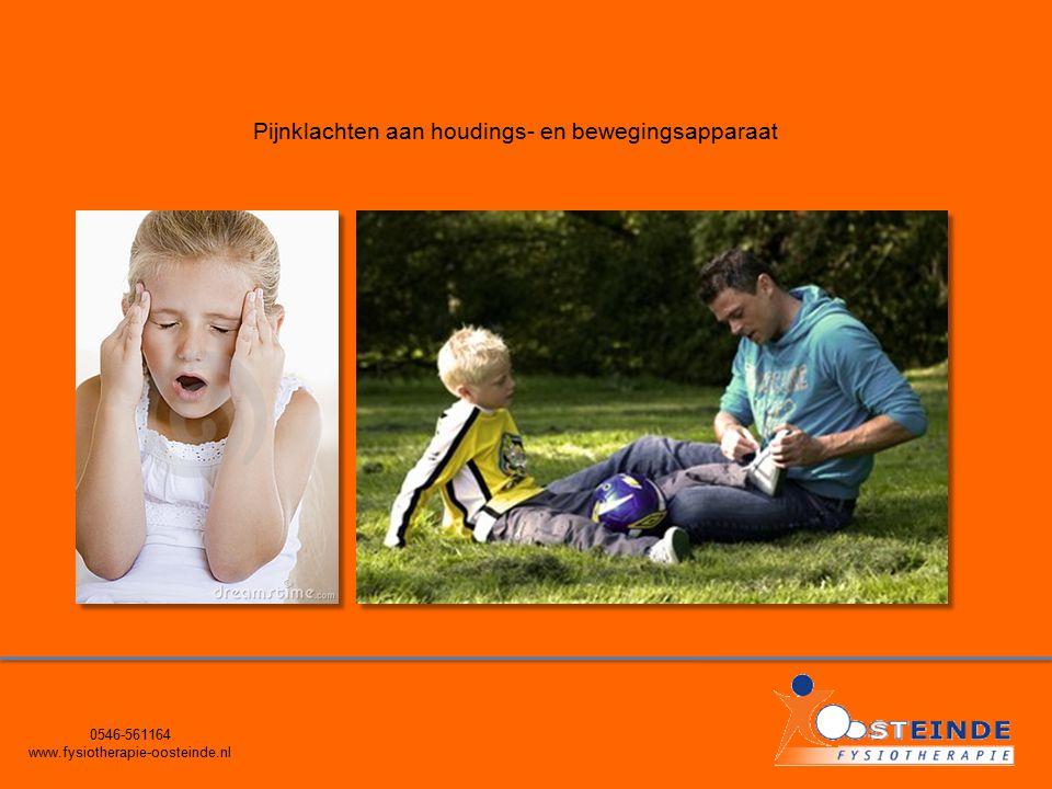 0546-561164 www.fysiotherapie-oosteinde.nl Pijnklachten aan houdings- en bewegingsapparaat