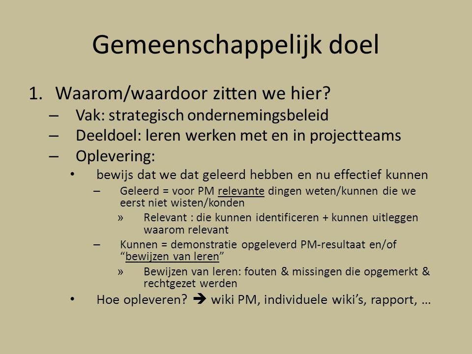 In de praktijk: projectleider Traject 2: projectleider wordt benoemd (I/E) – Hoe.