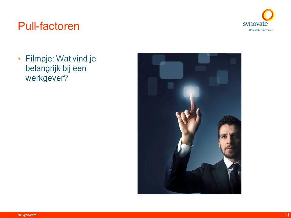 © Synovate 11 Pull-factoren Filmpje: Wat vind je belangrijk bij een werkgever
