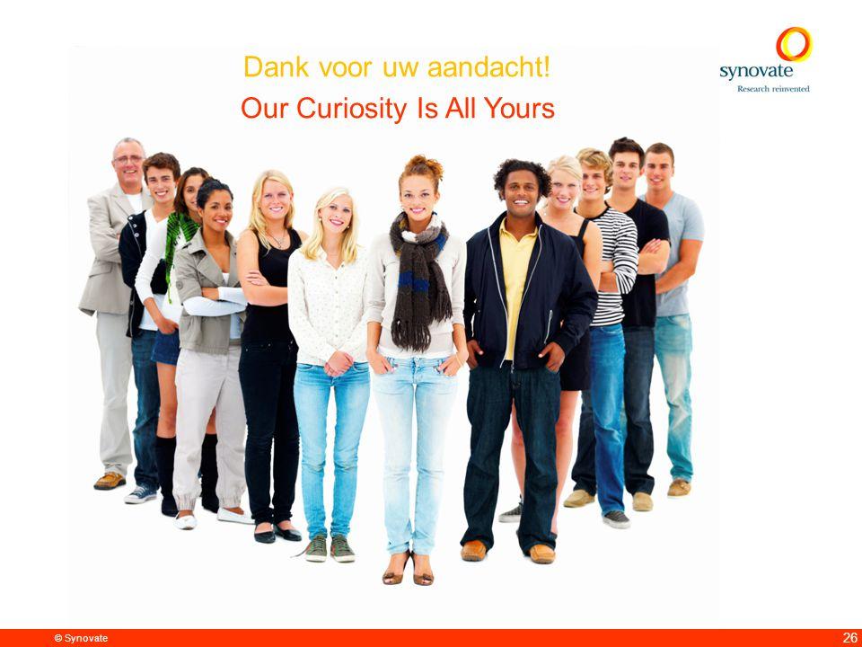 © Synovate 26 Dank voor uw aandacht! Our Curiosity Is All Yours