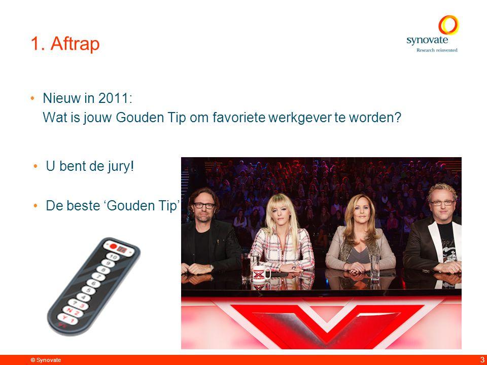 © Synovate 3 1. Aftrap Nieuw in 2011: Wat is jouw Gouden Tip om favoriete werkgever te worden.
