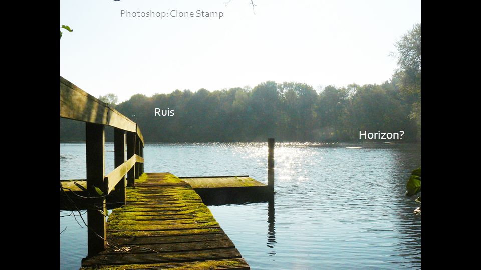 1 Ruis Photoshop: Clone Stamp Horizon