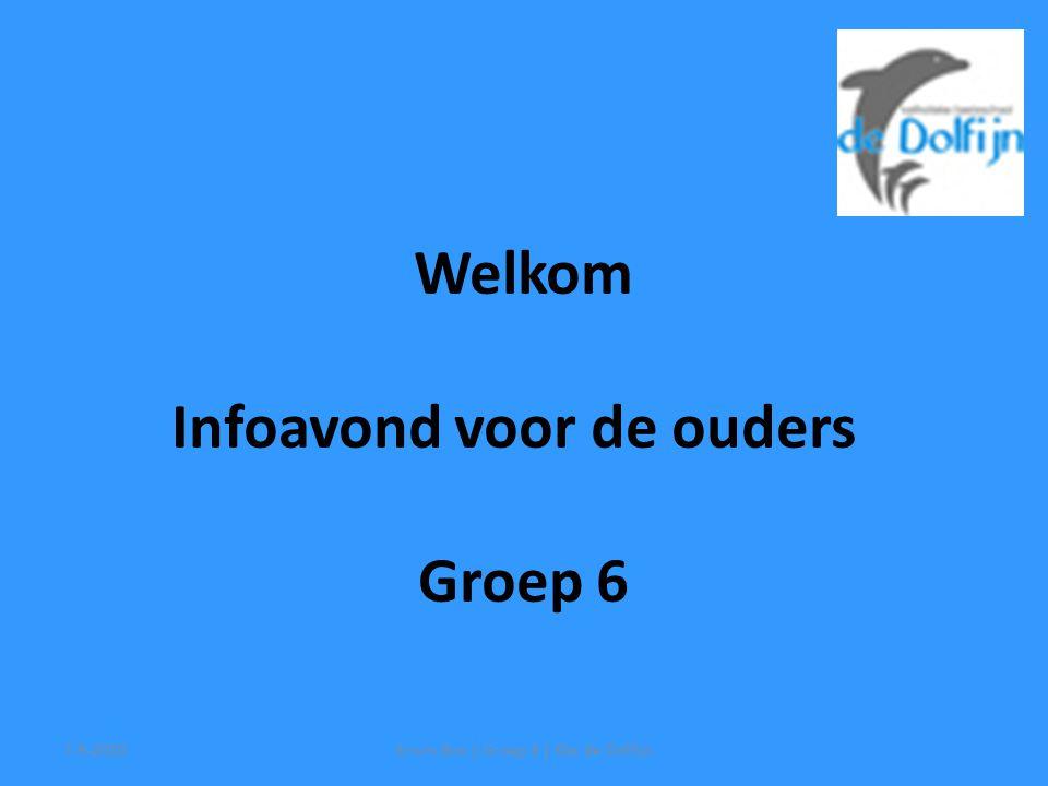 Welkom Infoavond voor de ouders Groep 6 7-9-2010Erwin Bos | Groep 6 | Kbs de Dolfijn