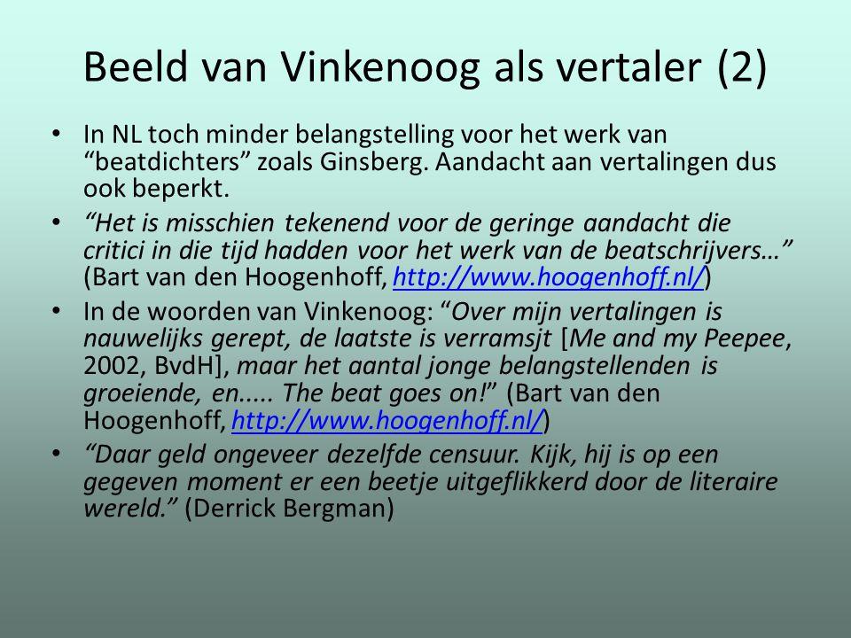 """Beeld van Vinkenoog als vertaler (2) In NL toch minder belangstelling voor het werk van """"beatdichters"""" zoals Ginsberg. Aandacht aan vertalingen dus oo"""