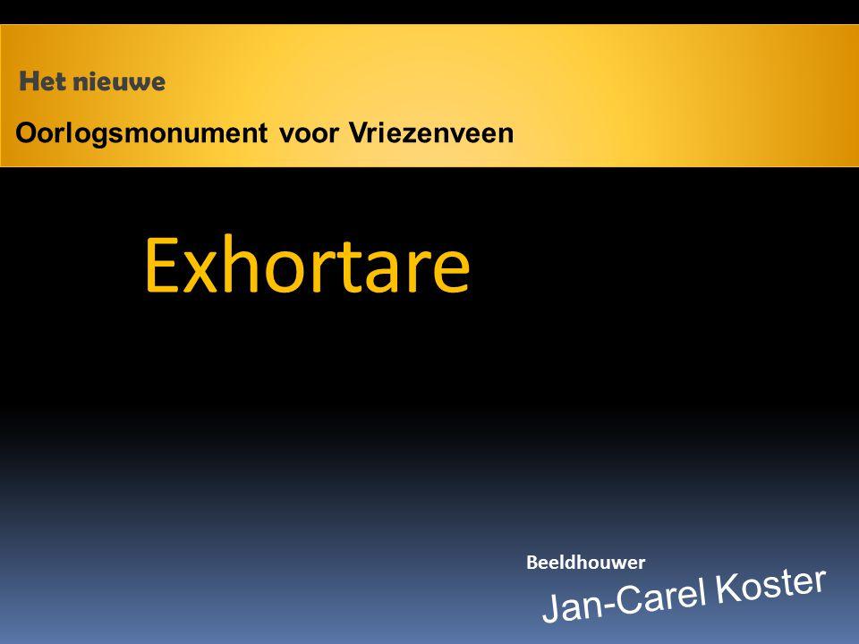 Oorlogsmonument voor Vriezenveen Jan-Carel Koster Beeldhouwer Het nieuwe