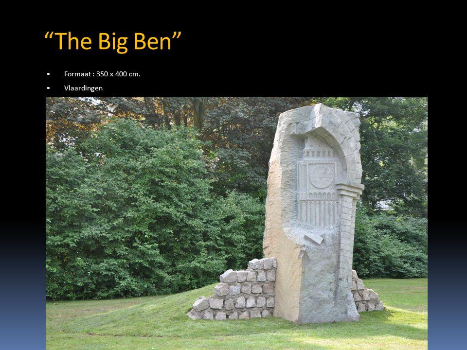 The Big Ben  Formaat : 350 x 400 cm.  Vlaardingen