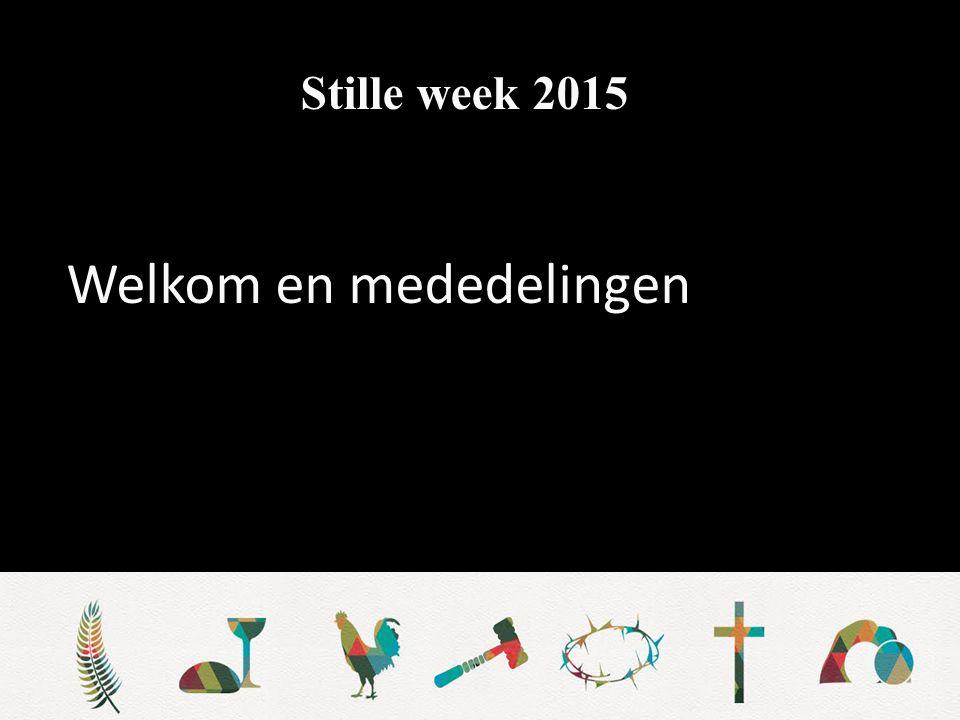 Stille week 2015 Stil gebed