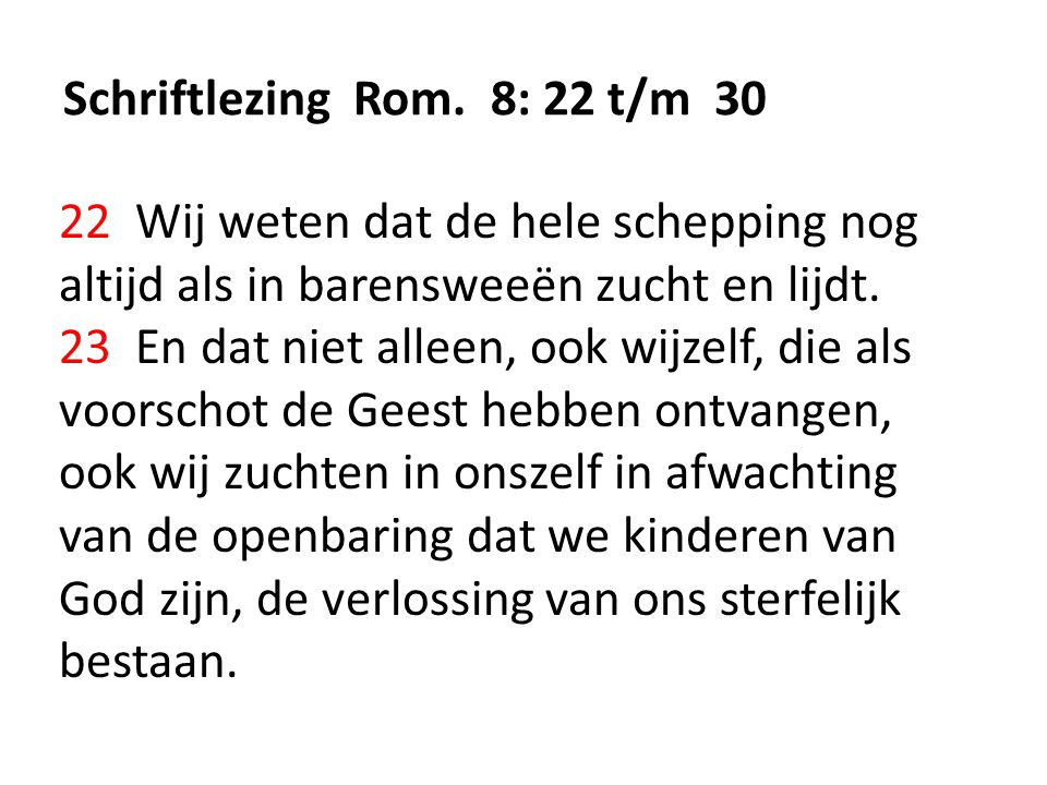 Schriftlezing Rom.