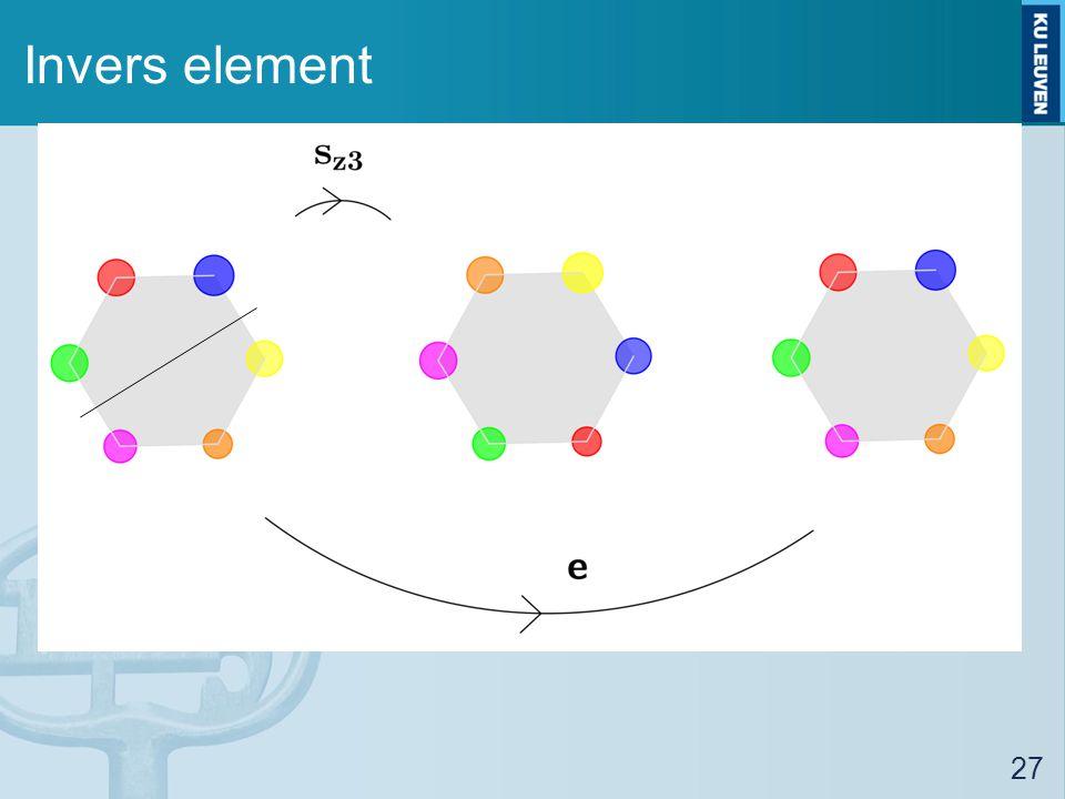 Invers element 27