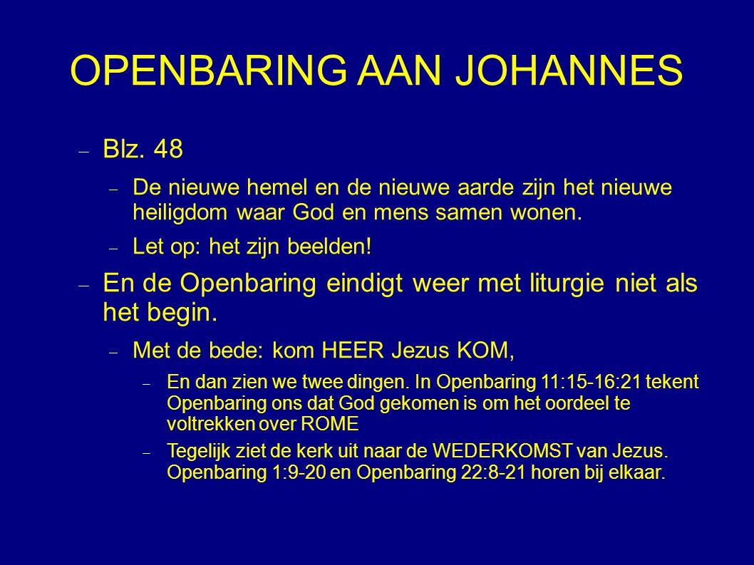 OPENBARING AAN JOHANNES  Blz.