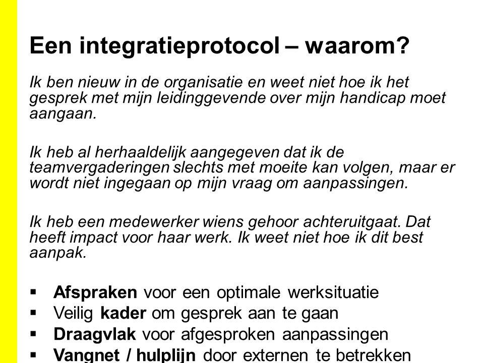 Een integratieprotocol – waarom.
