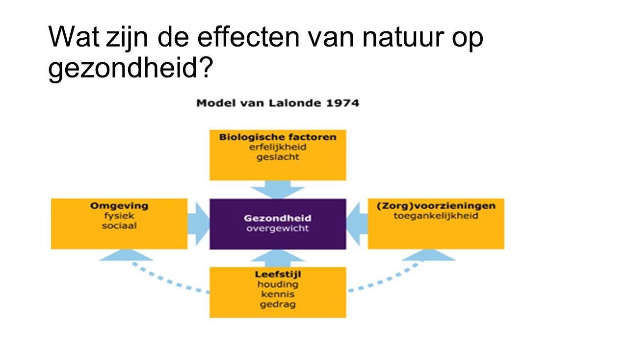 Wat zijn de effecten van natuur op gezondheid?