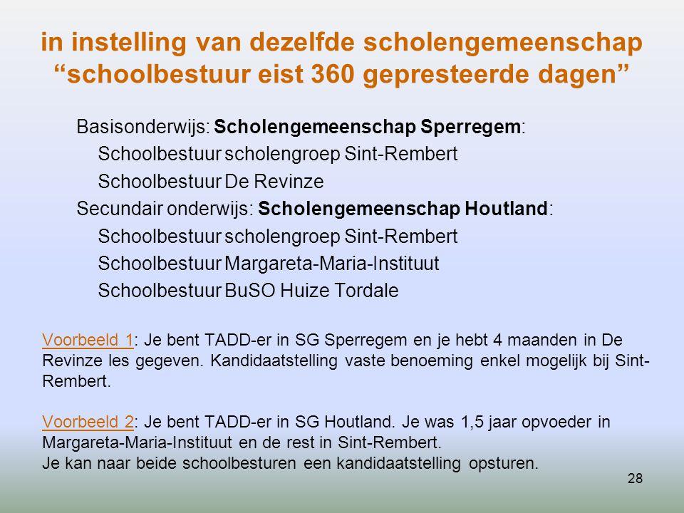 """28 in instelling van dezelfde scholengemeenschap """"schoolbestuur eist 360 gepresteerde dagen"""" Basisonderwijs: Scholengemeenschap Sperregem: Schoolbestu"""