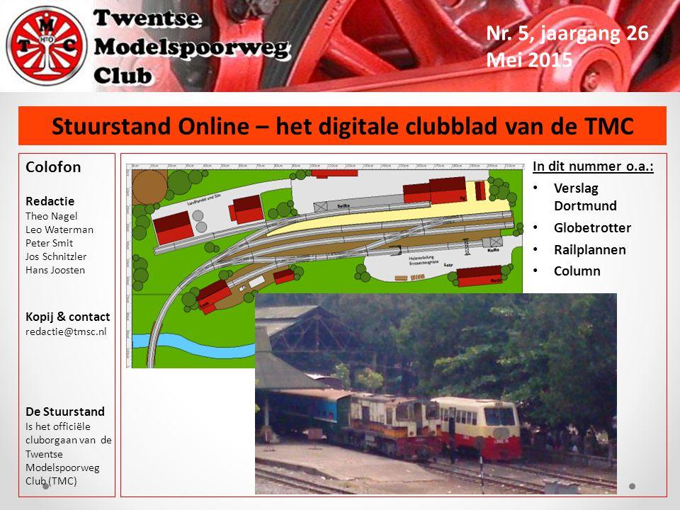 Stuurstand Online – het digitale clubblad van de TMC Nr.