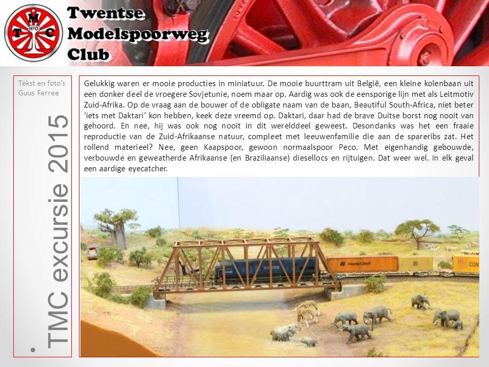 TMC excursie 2015 Tekst en foto's Guus Ferree Imposant was ook de baan die het verwerken van schroot tot staal uitbeeldde.