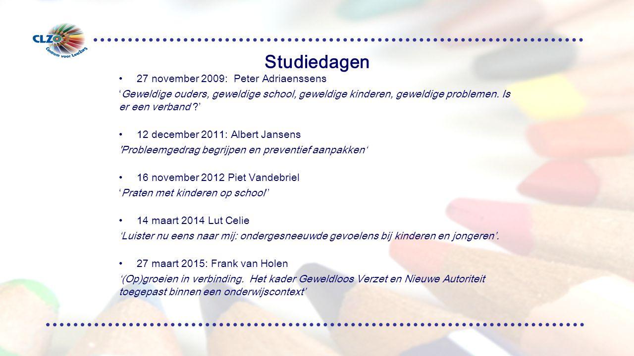 Studiedagen 27 november 2009: Peter Adriaenssens 'Geweldige ouders, geweldige school, geweldige kinderen, geweldige problemen.