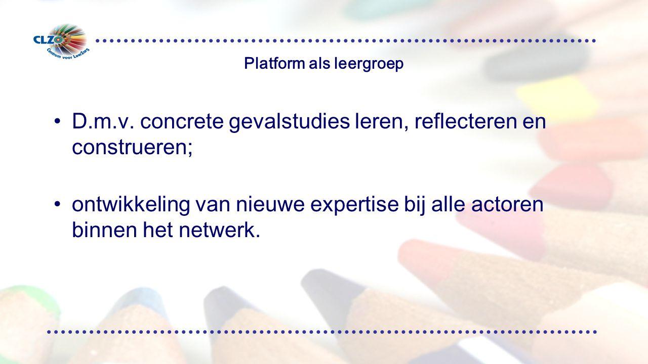 Platform als leergroep D.m.v.