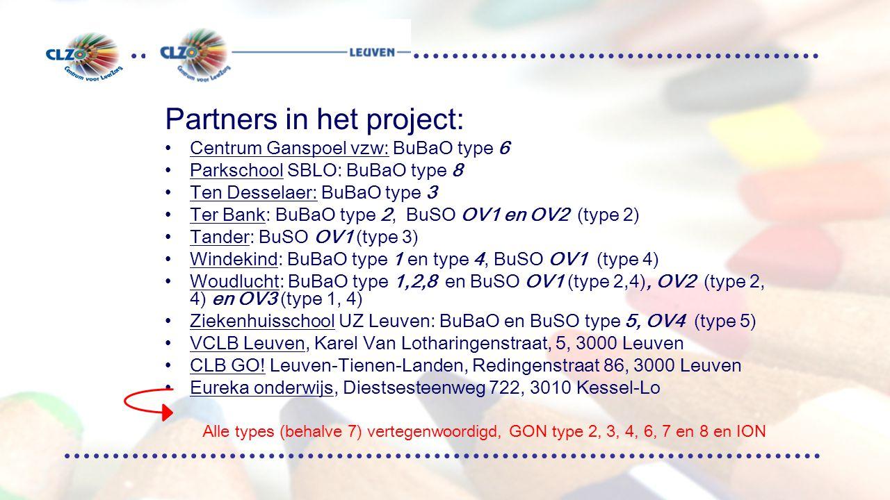 Financiering Provinciale subsidies  aankoop halftijdse detachering ministerie voor coördinatie en dienstverlening –11/40 dienstverlening (a rato opgenomen vragen 1/40 of 2/40) –9/40 coördinatie (7/40 + 1/40 VCLB en 1/40 GO!) eigen middelen VCLB Leuven of CLB GO!