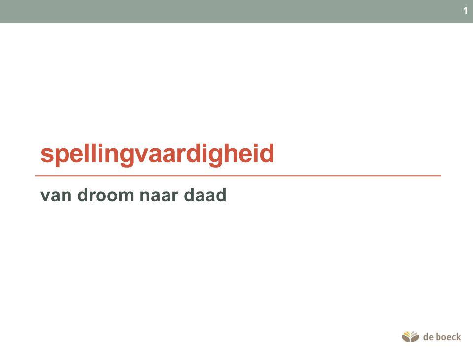 spellingvaardigheid van droom naar daad 1